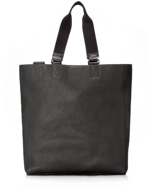 lanvin shopper bag in natural grain calfskin men