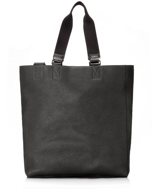 lanvin shopper bag in natural grain calfskin men