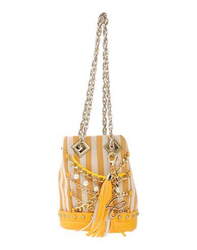 LA CARRIE レディース ハンドバッグ イエロー 紡績繊維