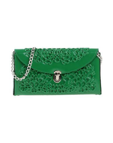 M? DUSA レディース ハンドバッグ グリーン 紡績繊維