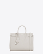 CLASSIC SMALL SAC DE JOUR bag bianco porcellana IN PELLE MARTELLATA
