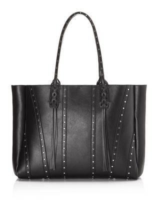 LANVIN Small shopper bag in smooth calfskin and studs Tote D r