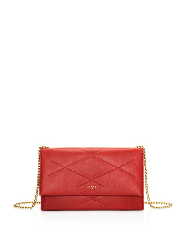 LANVIN Sugar wallet on chain in lambskin Shoulder bag D f
