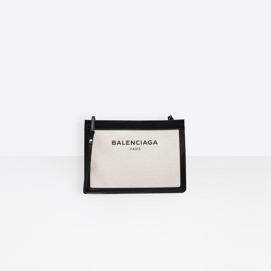 BALENCIAGA Navy Pochette S Navy Handbag D f