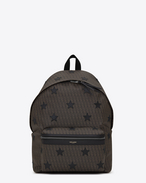 SAINT LAURENT Backpack U Classic TOILE MONOGRAM CALIFORNIA backpack in Black Printed Canvas and Leather f