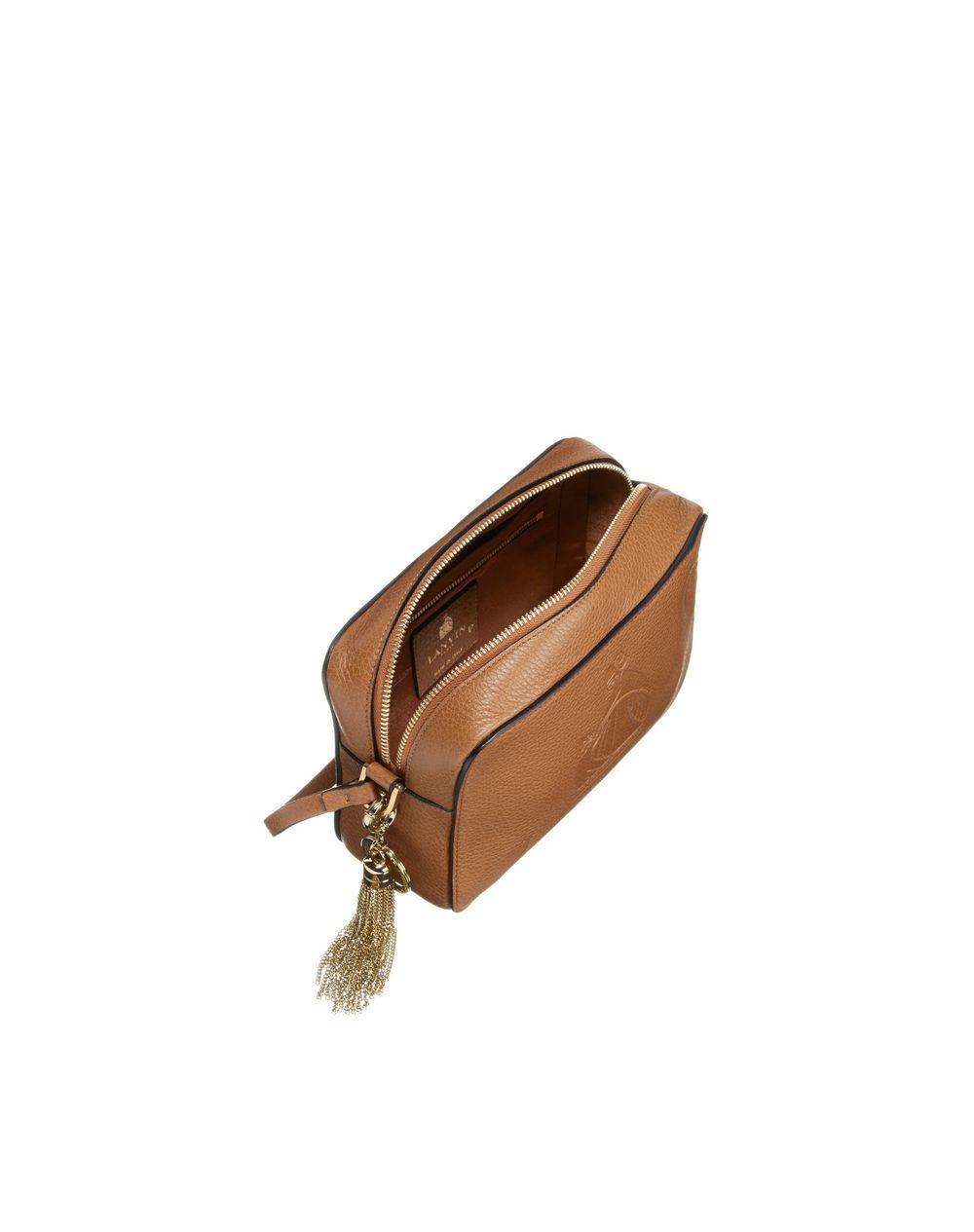 lanvin mini lanvin logo bag grainy calfskin shoulder bag