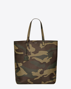 SHOPPING SAINT LAURENT Tote Bag in Camouflage Printed Leather