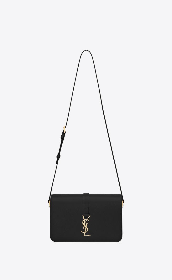 c4ebfcb92742 Classic medium Monogram Saint Laurent Université Bag in Black Grained  Leather