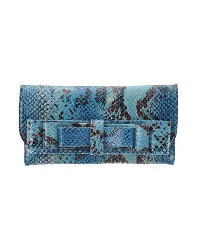 LA FILLE des FLEURS レディース ハンドバッグ ターコイズブルー ポリエステル 60% / ナイロン 35% / ポリウレタン 5%