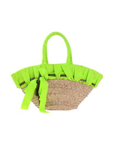 CONNIE レディース ハンドバッグ ビタミングリーン ストロー / 紡績繊維