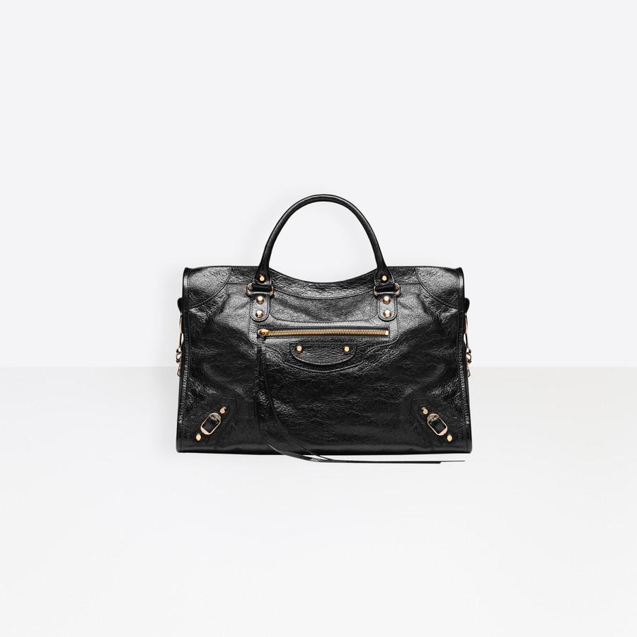 BALENCIAGA Classic Gold City Short Strap Classic New City Handbags Woman f