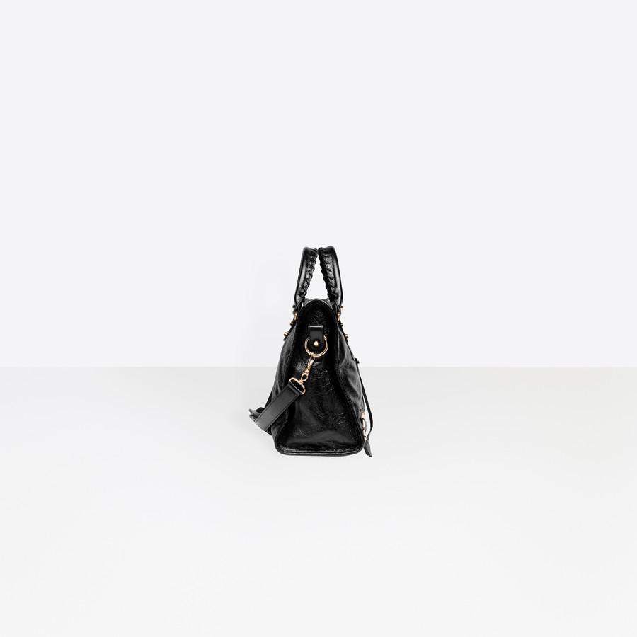 BALENCIAGA Classic Gold City Short Strap Classic New City Handbags Woman i