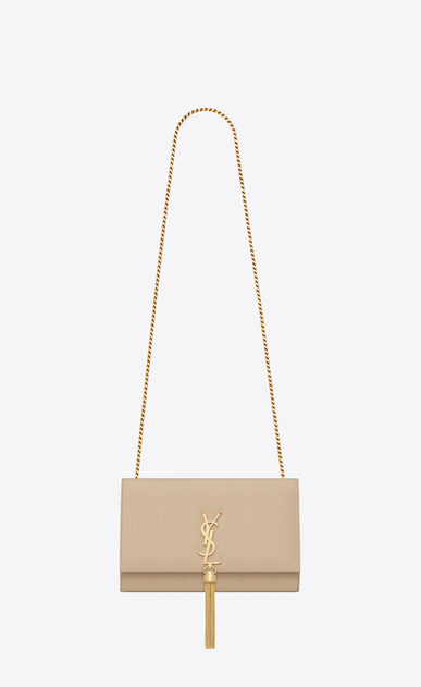 SAINT LAURENT MONOGRAM KATE WITH TASSEL D satchel medium à pompon kate en cuir powder a_V4