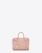 SAINT LAURENT Nano Sac de Jour D Classic Nano Sac De Jour in Pale Blush Leather f