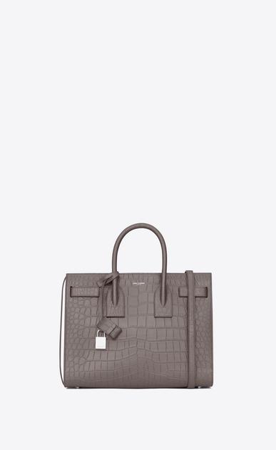 SAINT LAURENT Sac De Jour Small D Classic Small Sac De Jour Bag in Fog Crocodile Embossed Leather a_V4