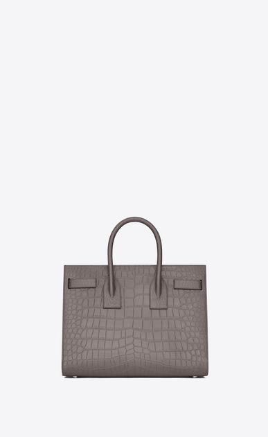 SAINT LAURENT Sac De Jour Small D Classic Small Sac De Jour Bag in Fog Crocodile Embossed Leather b_V4