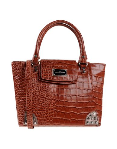 BROCH & BROCH レディース ハンドバッグ ブラウン 紡績繊維