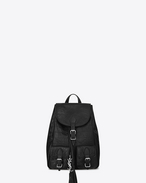 SAINT LAURENT City Backpack D Small FESTIVAL Backpack in Black Crocodile Embossed Leather f