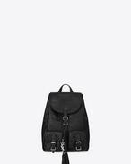 SAINT LAURENT City Backpack D Zaino Small FESTIVAL nero in coccodrillo stampato f
