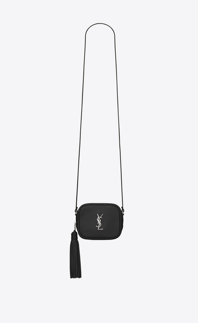 SAINT LAURENT Camera bag D monogram blogger bag in black leather a_V4