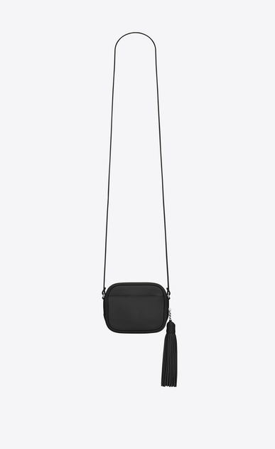 SAINT LAURENT Camera bag D monogram blogger bag in black leather b_V4