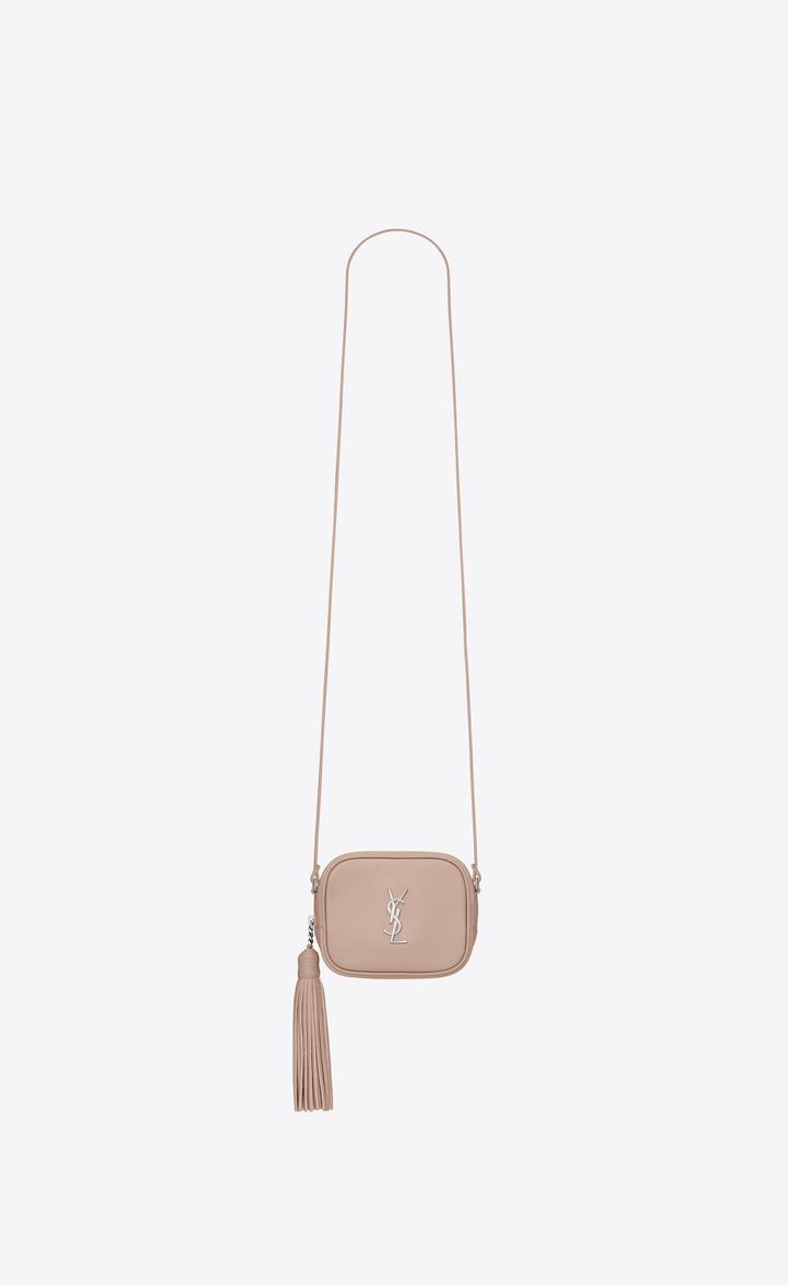 3e030139c89 MONOGRAM SAINT LAURENT BLOGGER Bag in Powder Pink Leather, Front view