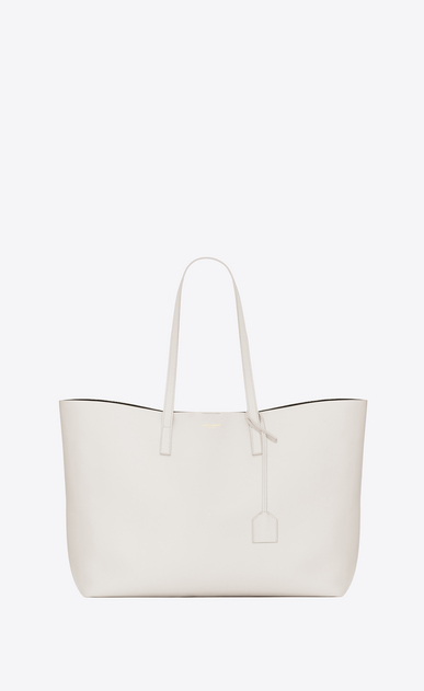 SAINT LAURENT Shopping Saint Laurent E/W D shopping saint laurent tote bag in dove white leather a_V4