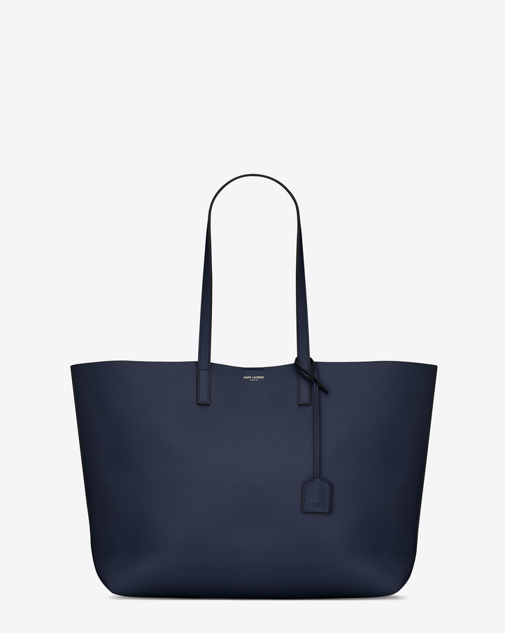 Saint Laurent Large SHOPPING SAINT LAURENT Tote Bag In Navy Blue ...
