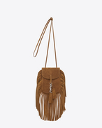 SAINT LAURENT Anita bag D Toy ANITA Fringed Flat Bag in Light Ochre Suede f