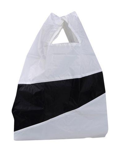SUSAN BIJL レディース ハンドバッグ ホワイト ナイロン 100%