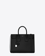 SAINT LAURENT Sac De Jour Small D Classic Small Sac De Jour bag in Black Grained Leather f