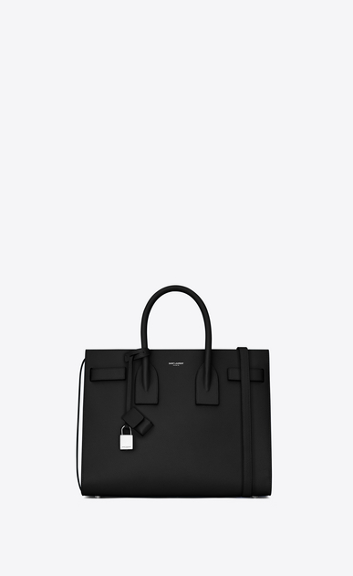 SAINT LAURENT Sac De Jour Small D Classic Small Sac De Jour bag in Black Grained Leather a_V4