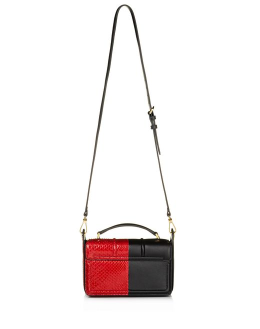 lanvin small box jiji by lanvin bag in smooth calfskin and python women