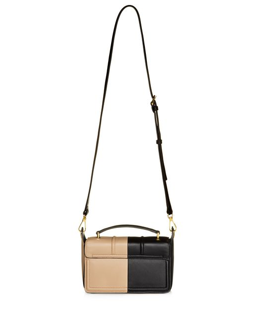 lanvin small box jiji by lanvin bag in smooth bicolor calfskin women