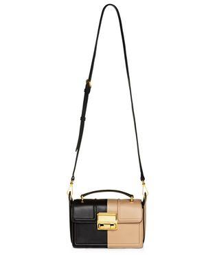 LANVIN Small box Jiji by Lanvin bag in smooth bicolor calfskin Shoulder bag D f