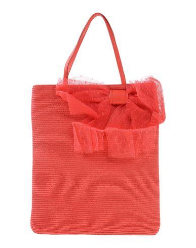 RED(V) レディース ハンドバッグ コーラル ラフィア / 革