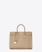 CLASSIC SMALL SAC DE JOUR BAG beige scuro in pelle martellata
