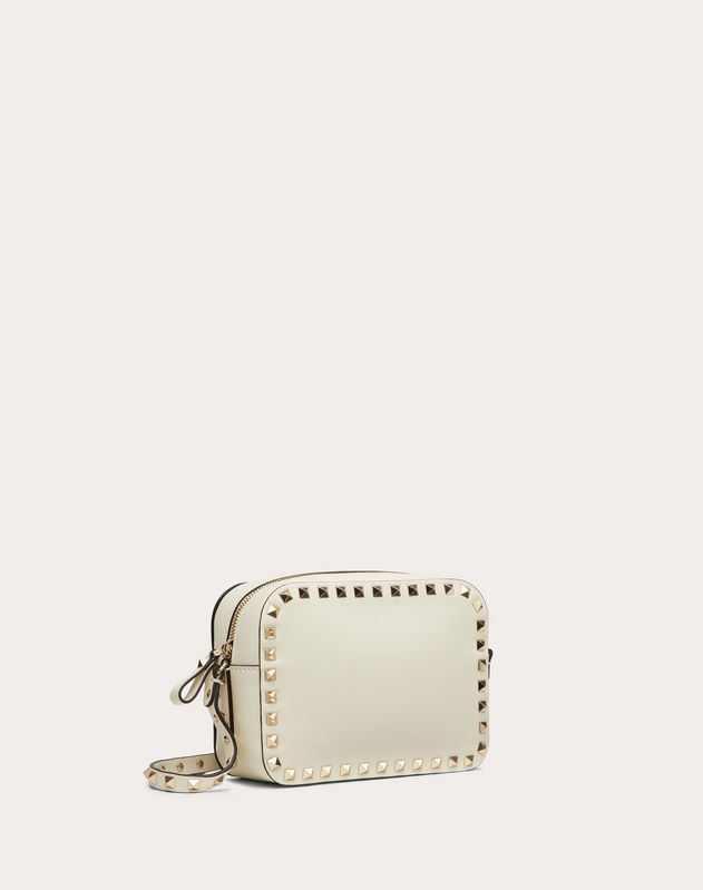Small Rockstud Calfskin Crossbody Bag