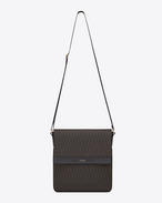 CLASSIC Toile Monogram FLAT POUCH BAG IN BLACK printed CANVAS AND LEATHER