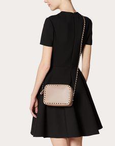 Small Rockstud Calfskin Crossbody Bag