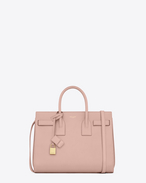 SAINT LAURENT Sac De Jour Small D CLASSIC SMALL SAC DE JOUR BAG IN Pale Blush LEATHER f