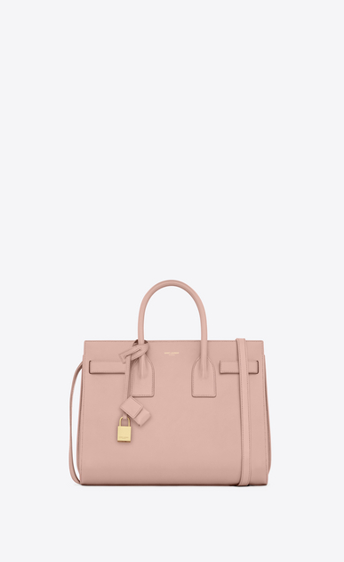 SAINT LAURENT Sac De Jour Small D CLASSIC SMALL SAC DE JOUR BAG IN Pale Blush LEATHER a_V4