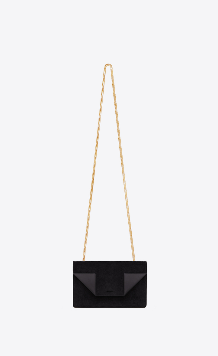 Saint Laurent Classic Small Betty Bag In Black Suede And Leather ... 8fef202725d11
