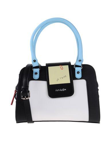 DAVIDELFIN レディース ハンドバッグ ホワイト 紡績繊維