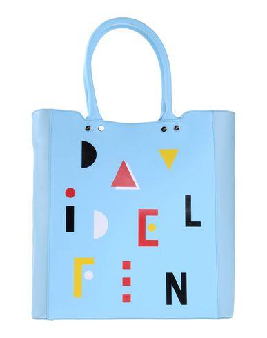 DAVIDELFIN レディース ハンドバッグ スカイブルー 紡績繊維