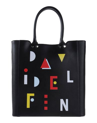 DAVIDELFIN レディース ハンドバッグ ブラック 紡績繊維