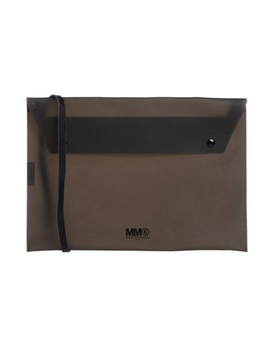 MM6 MAISON MARGIELA レディース ハンドバッグ スチールグレー ポリ塩化ビニル 100%