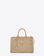 SAINT LAURENT Monogram Cabas D Small MONOGRAM SAINT LAURENT CABAS Bag in BEIGE Leather f