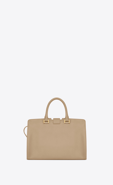 SAINT LAURENT Monogram Cabas Woman small cabas bag in beige leather b_V4