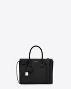 SAINT LAURENT Baby Sac de Jour D classic baby sac de jour bag in in black grained leather f